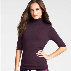 Ann Taylor Purple Turtleneck